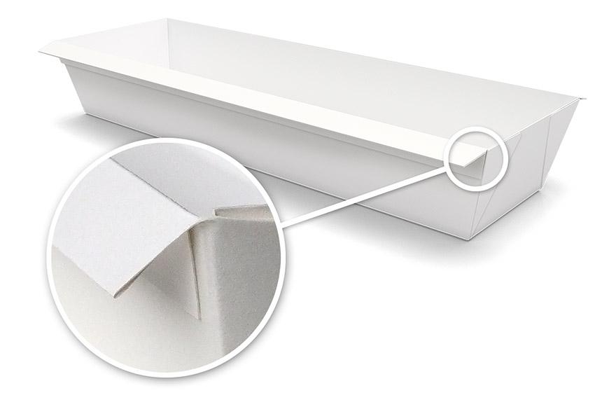 double folded length tray